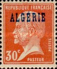 [French Postage Stamps Overprinted in Blue, type C3]
