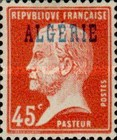 [French Postage Stamps Overprinted in Blue, type C4]