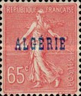 [French Postage Stamps Overprinted in Blue, type C5]
