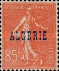 [French Postage Stamps Overprinted in Blue, type C6]