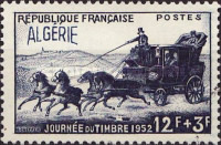 [Day of the Stamp - Previous Issue of 1945, Mail Coach, Overprinted