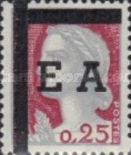 """[Stamps of France Overprinted """"EA"""" and with Bars Obliterating """"REPUBLIQUE FRANCAISE"""", type FF1]"""
