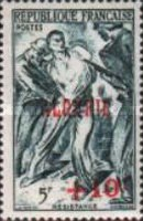 [French Postage Stamp Overprinted