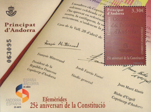 [The 25th Anniversary of the Constitution of Andorra, type ]