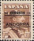 """[Spanish Postage Stamps Overprinted """"CORREOS - ANDORRA"""", type A12]"""