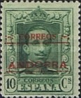 """[Spanish Postage Stamps Overprinted """"CORREOS - ANDORRA"""", type A2]"""