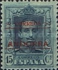 """[Spanish Postage Stamps Overprinted """"CORREOS - ANDORRA"""", type A4]"""