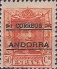 """[Spanish Postage Stamps Overprinted """"CORREOS - ANDORRA"""", type A9]"""