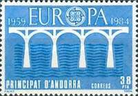 [EUROPA Stamps - Bridges - The 25th Anniversary of CEPT, type DV1]