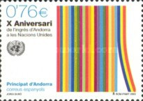 [The 10th Anniversary of the Entry of Andorra to the United Nations, type IN]