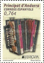 [EUROPA Stamps - Musical Instruments, type MI]