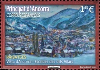 [Tourism -  View of Andorra and Escaldes des dels Vilars, type OL]