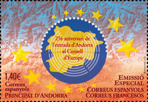 [The 25th Anniversary of Andorra in the Council of Europe, Typ PB]
