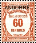 [Postage-due Stamps from France Overprinted