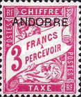 [French Postage-due Stamps Overprinted