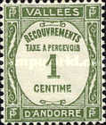 [Postage-due Stamp in French Design, type B]