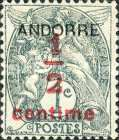 """[French Postage Stamps Overprinted """"ANDORRE"""", type A]"""