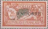 """[French Postage Stamps Overprinted """"ANDORRE"""", type C]"""