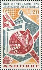 [The 100th anniversary of the Universal Postal Union, type CR]