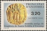 [Gold coin from the Santa Eulália d'Encamp church, Typ HZ]