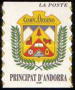 [Ordino City Arms. Self-adhesive Stamp Without Value Specification for Letter of 1st Weight Class, Typ LN]