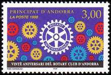 [The 20th Anniversary of Rotary Club in Andorra, Typ LP]
