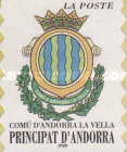 [Andorre La Vella City Arms. Self-adhesive Stamp Without Value Specification for Letter of 1st Weight Class, Typ MO]