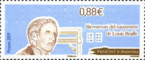 [The 200th Anniversary of the Birth of Louis Braille, type RM]