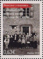 [The 100th Anniversary of the French School in Canillo, type UG]