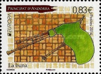 [EUROPA Stamps - Musical Instruments, type UO]