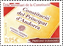 [The 25th Anniversary of the Constitution of Andorra, Typ WS]