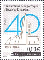 [The 40th Anniversary of the Escaldes-Engordany Parish, Typ WX]