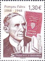 [The 150th Anniversary of the Birth of Pompeu Fabra, 1868-1948, Typ WY]