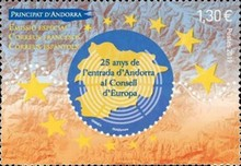 [The 25th Anniversary of Andorra in the Council of Europe, Typ XU]