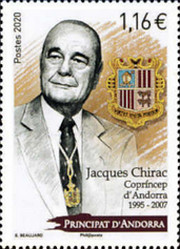 [Co-Prince of Andorra, Jacques Chirac, 1932-2019, Typ YH]