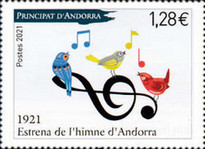 [The 100th Anniversary of the National Anthem of Andorra, Typ YW]