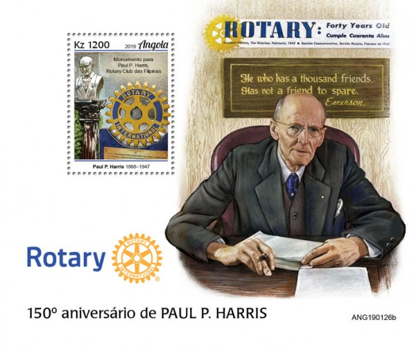 [The 150th Anniversary of the Birth of Paul P. Harris, 1868-1947, type ]