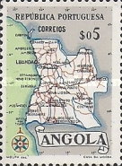 [Map of Angola, Typ DX]