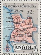 [Map of Angola, Typ DX1]