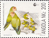 [Nature Protection - Peach-faced Lovebirds, Typ WW]