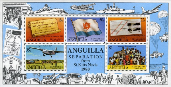 [Official Separation from St. Kitts and Nevis, Typ ]