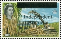 [Postage Stamps from St. Kitts and Nevis Overprinted