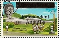 "[Postage Stamps from St. Kitts and Nevis Overprinted ""Independent Anguilla"", type A5]"