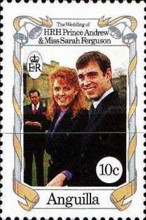 [The Wedding of HRH - Prince Andrew and Miss Sarah Ferguson, Typ AAG]