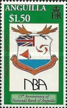 [The 15th Anniversary of the National Bank of Anguilla, type APU]