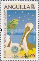 [The 100th Anniversary of the Rotary International and The 25th Anniversary of the Anguilla Rotary Club, type AVK]