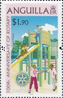 [The 100th Anniversary of the Rotary International and The 25th Anniversary of the Anguilla Rotary Club, type AVM]