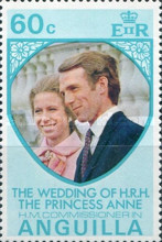 [The Wedding of H.R.H, Princess Anne to H.M. Commissioner Mark Phillips - Anguilla, Typ EY]