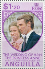 [The Wedding of H.R.H, Princess Anne to H.M. Commissioner Mark Phillips - Anguilla, Typ EY1]