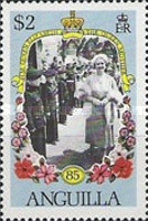 [The 85th Anniversary of the Birth of Queen Mother Elizabeth, Typ XV]
